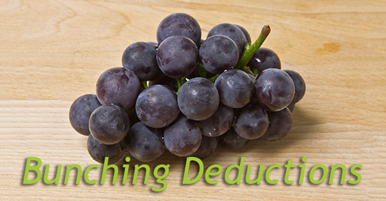 Now's the time to start thinking about bunching miscellaneous itemized deductions