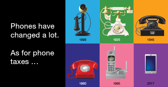Fun fact: Phone service was taxed early and has been taxed often ever since