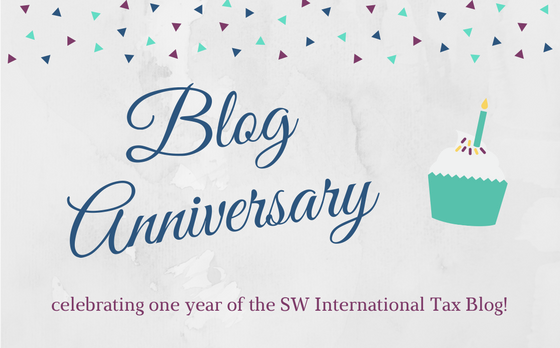 One Year of International Tax Blogging at Sciarabba Walker