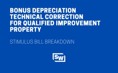 Bonus Depreciation Technical Correction for Qualified Improvement Property