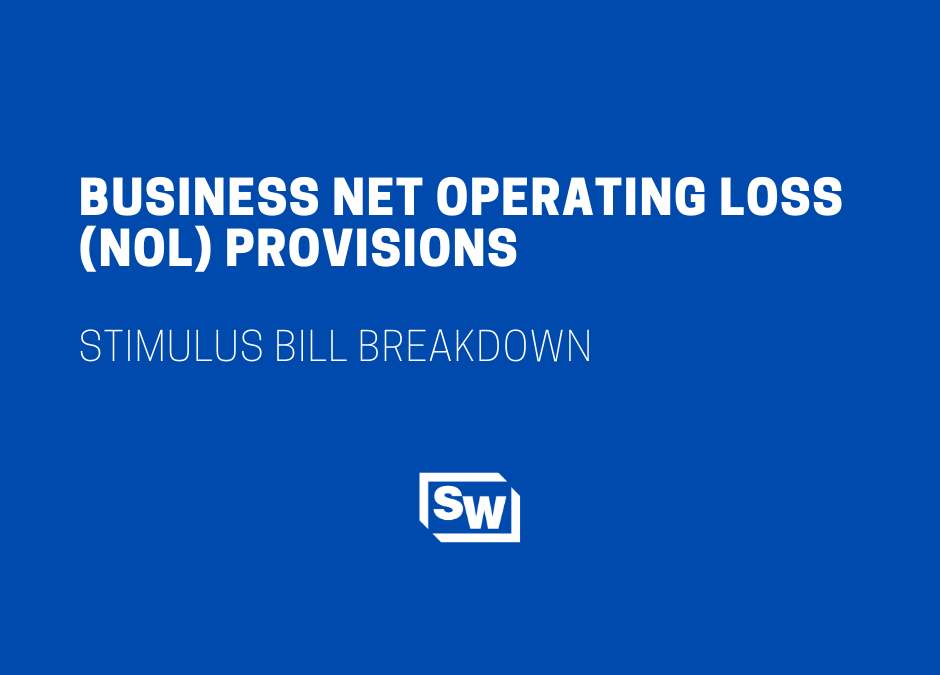 CARES Act Business Net Operating Loss (NOL) Provisions