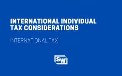 International Individual Tax Considerations